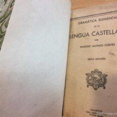 Libros antiguos: GRAMÁTICA ELEMENTAL . Lote 56682044