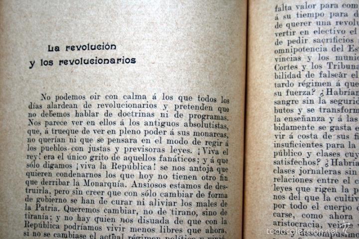 Libros antiguos: ARTICLES - Pi i Margall / Gabriel Alomar --- 1908 - Foto 3 - 34398920