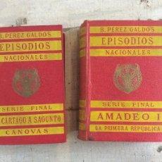 Libri antichi: TOMO 23 Y 22 DE EPISODIOS NACIONALES DE BENITO PÉREZ GALDOS, 1910. Lote 57254756