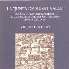 """Libros antiguos: VICENTE MELIÓ: LA """"JUNTA DE MURS I VALLS"""".. Lote 32377233"""