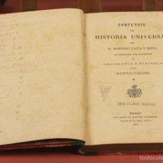 Libros antiguos: 7933 - COMPENDIO DE HISTORIA UNIVERSAL. MARIANO LAITA. TIP. AGUSTÍN EMPERAILE. 1887.. Lote 60043879
