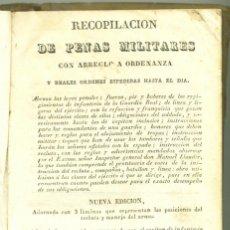 Libros antiguos: INSTRUCCION DE INFANTERIA: RECOPILACIÓN DE PENAS MILITARES , 1834. Lote 66159610