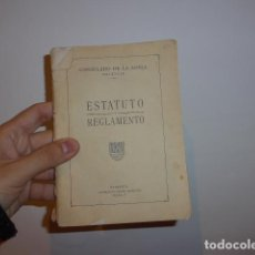 Libros antiguos: ANTIGUO LIBRO ESTATUTO Y REGLAMENTO DEL CONSULADO DE LA LONJA DE VALENCIA, ORIGINAL. Lote 66847234