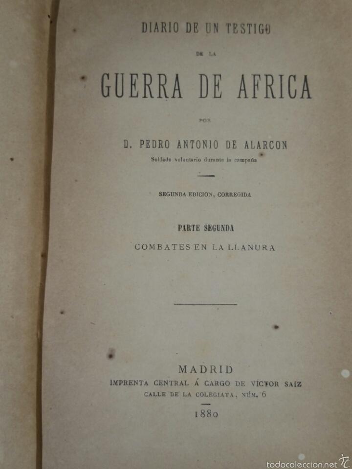DIARIO DE UN TESTIGO DE LA GUERRA DE ÁFRICA TOMO II 1880 ALARCON PEDRO ANTONIO (Libros antiguos (hasta 1936), raros y curiosos - Historia Moderna)