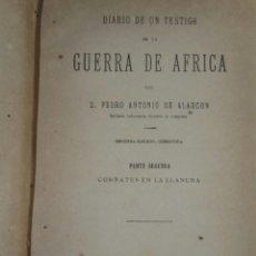 Alte Bücher - DIARIO de UN TESTIGO DE LA GUERRA DE ÁFRICA TOMO II 1880 Alarcon Pedro Antonio - 71608719