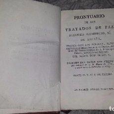Libros antiguos: PRONTUARIO DE LOS TRATADOS DE PAZ PARTE IV, V, VI Y VII. ULTIMA. (1791). Lote 72426747