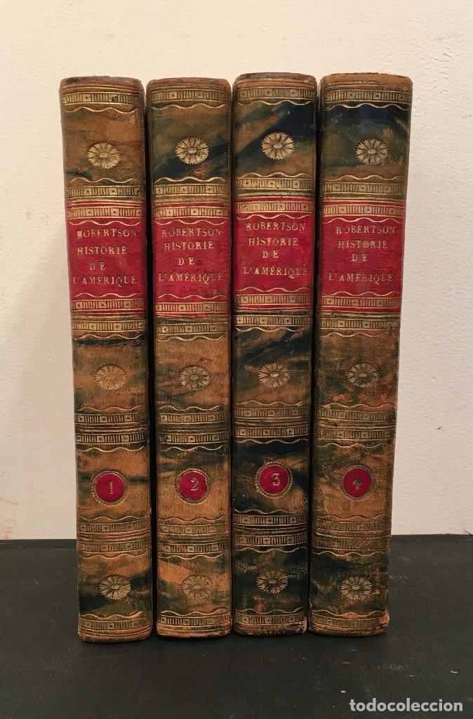Libros antiguos: 1828 ENCUADERNACION ORIGINAL - MEXICO William ROBERTSON - Historie de l'Amérique - Historia America - Foto 2 - 74387623
