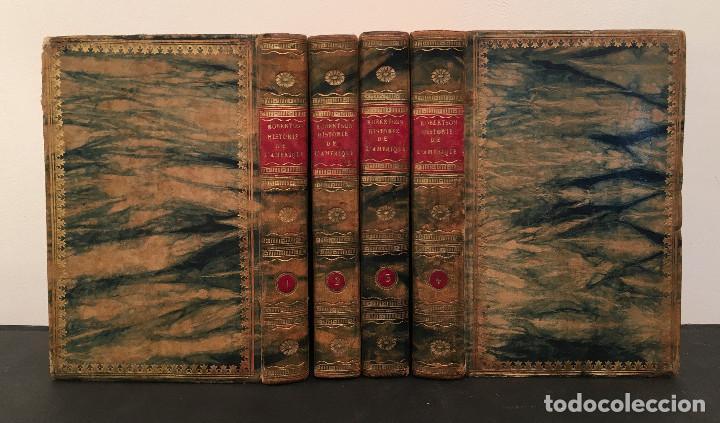 Libros antiguos: 1828 ENCUADERNACION ORIGINAL - MEXICO William ROBERTSON - Historie de l'Amérique - Historia America - Foto 3 - 74387623