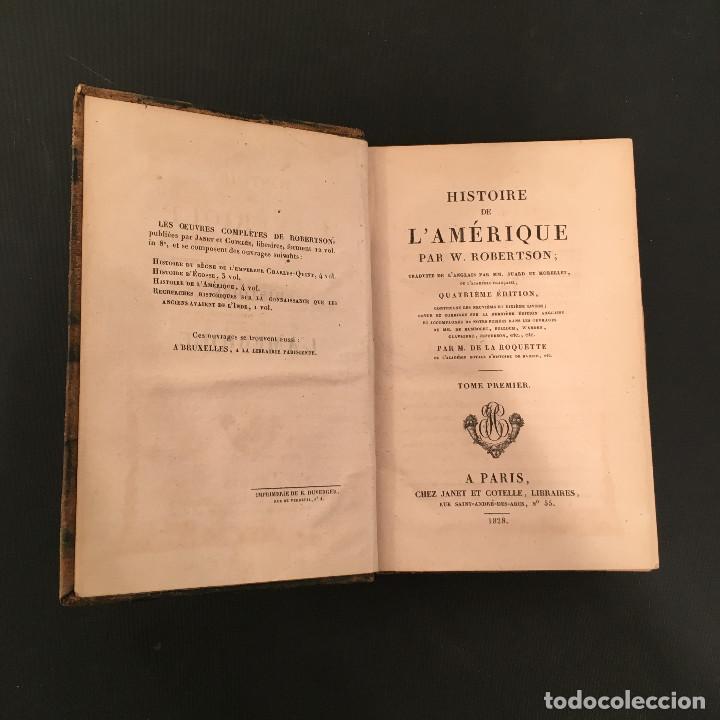 Libros antiguos: 1828 ENCUADERNACION ORIGINAL - MEXICO William ROBERTSON - Historie de l'Amérique - Historia America - Foto 9 - 74387623