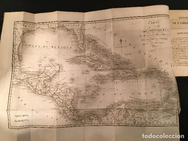Libros antiguos: 1828 ENCUADERNACION ORIGINAL - MEXICO William ROBERTSON - Historie de l'Amérique - Historia America - Foto 11 - 74387623