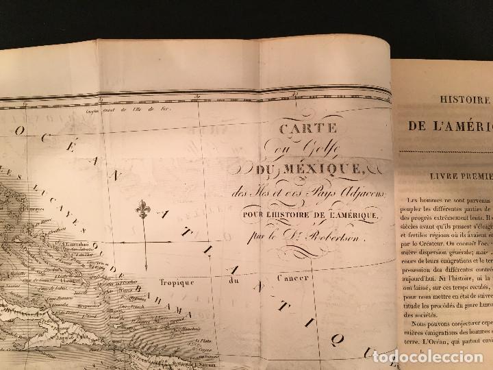Libros antiguos: 1828 ENCUADERNACION ORIGINAL - MEXICO William ROBERTSON - Historie de l'Amérique - Historia America - Foto 12 - 74387623