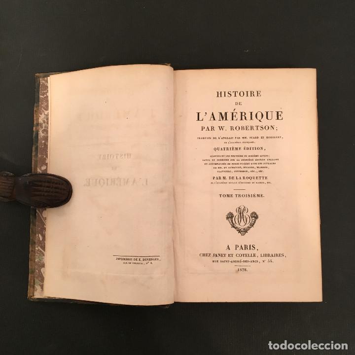 Libros antiguos: 1828 ENCUADERNACION ORIGINAL - MEXICO William ROBERTSON - Historie de l'Amérique - Historia America - Foto 32 - 74387623