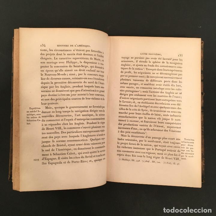 Libros antiguos: 1828 ENCUADERNACION ORIGINAL - MEXICO William ROBERTSON - Historie de l'Amérique - Historia America - Foto 53 - 74387623