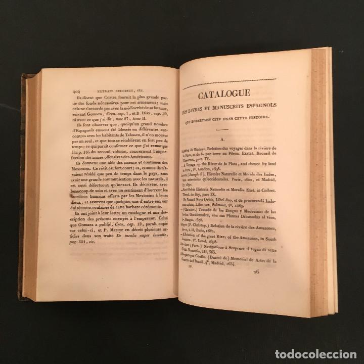 Libros antiguos: 1828 ENCUADERNACION ORIGINAL - MEXICO William ROBERTSON - Historie de l'Amérique - Historia America - Foto 56 - 74387623