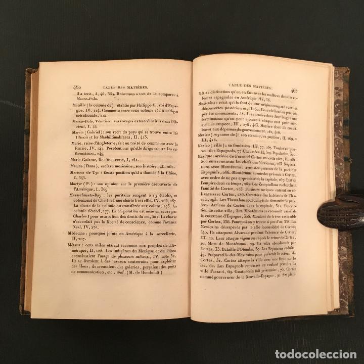 Libros antiguos: 1828 ENCUADERNACION ORIGINAL - MEXICO William ROBERTSON - Historie de l'Amérique - Historia America - Foto 59 - 74387623