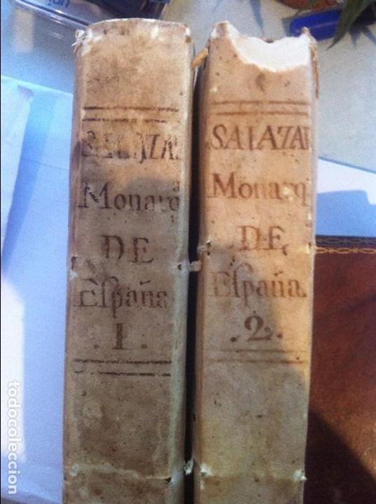MONARQUIA DE ESPAÑA DE PEDRO SALAZAR DE MENDOZA 2 TOMOS MADRID 1770 (Libros antiguos (hasta 1936), raros y curiosos - Historia Moderna)