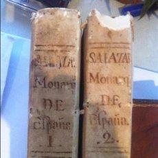 Libros antiguos: MONARQUIA DE ESPAÑA DE PEDRO SALAZAR DE MENDOZA 2 TOMOS MADRID 1770. Lote 74572407