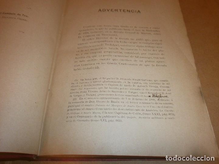 Libros antiguos: El Combate de Trafalgar P. Alcala Galiano Tomo I Madrid 1909 Imprenta del deposito Hidrografico - Foto 4 - 75141647