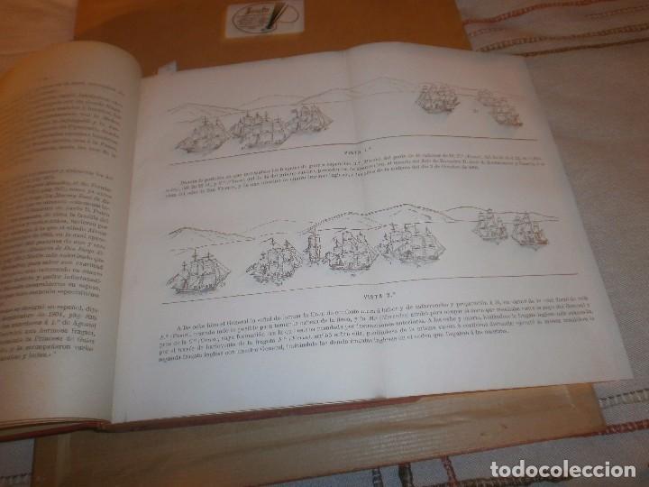 Libros antiguos: El Combate de Trafalgar P. Alcala Galiano Tomo I Madrid 1909 Imprenta del deposito Hidrografico - Foto 5 - 75141647