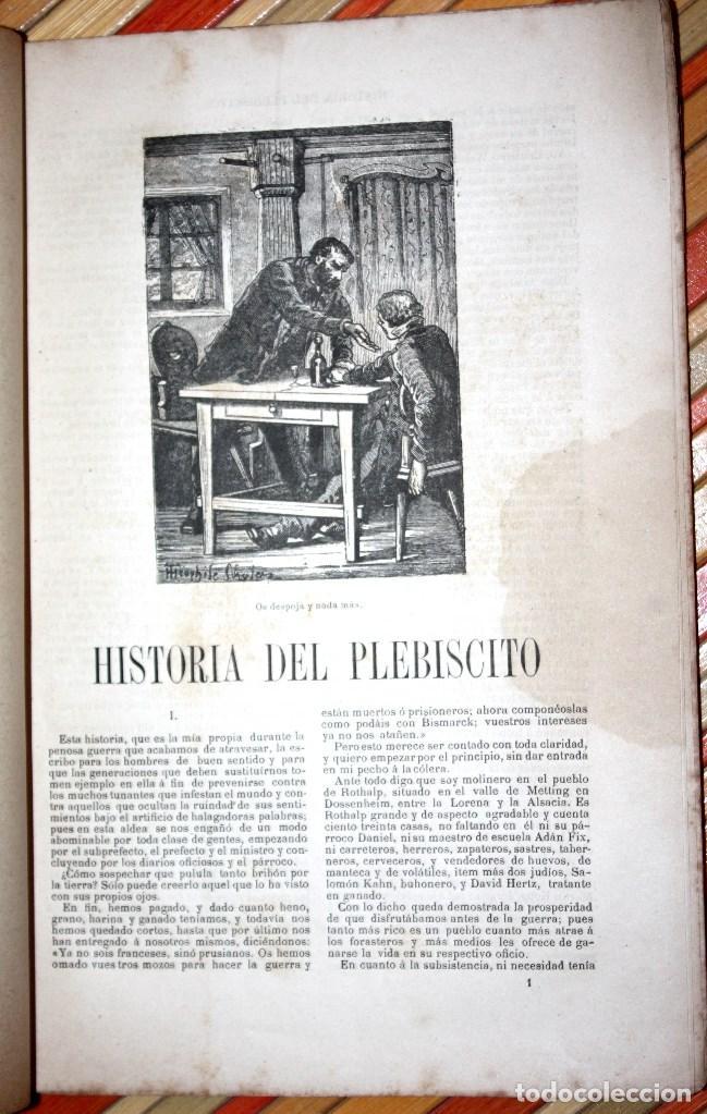 Libros antiguos: HISTORIA DE UN PLEBISCITO CONTADA POR UNO DE LOS 7.500.000 SÍ, 1885 ERCKMANN-CHATRIAN - Foto 4 - 76680071