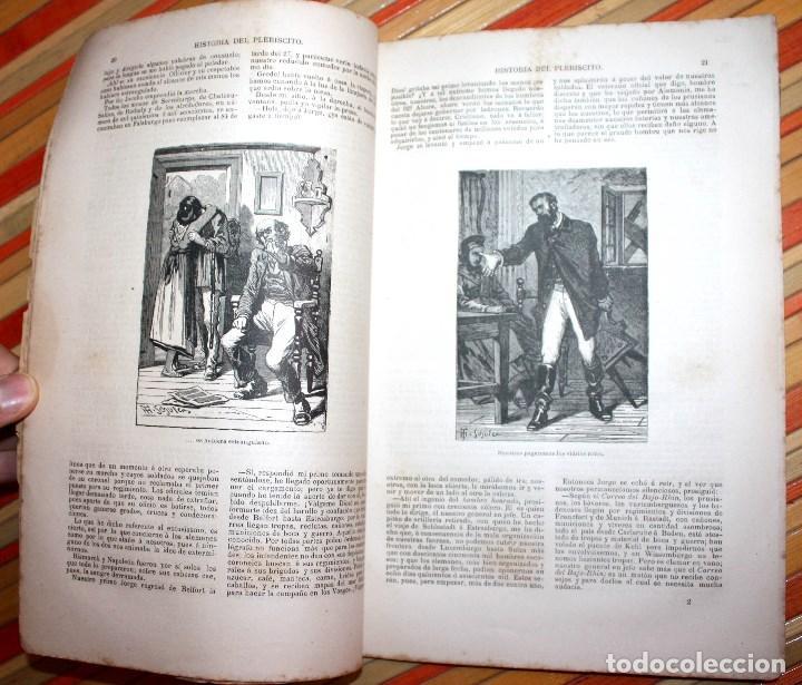 Libros antiguos: HISTORIA DE UN PLEBISCITO CONTADA POR UNO DE LOS 7.500.000 SÍ, 1885 ERCKMANN-CHATRIAN - Foto 6 - 76680071