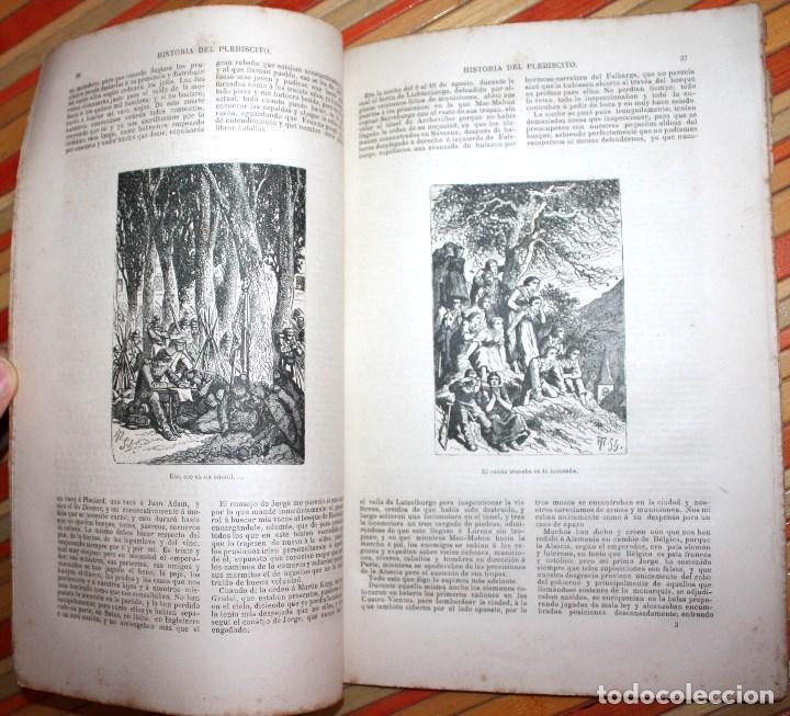 Libros antiguos: HISTORIA DE UN PLEBISCITO CONTADA POR UNO DE LOS 7.500.000 SÍ, 1885 ERCKMANN-CHATRIAN - Foto 7 - 76680071