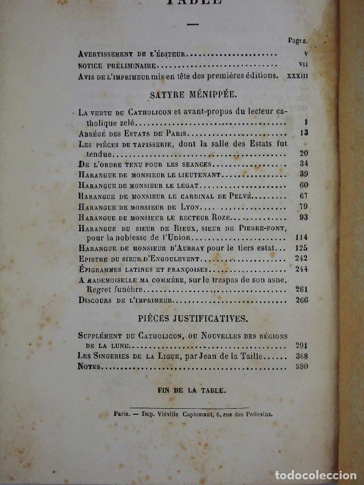 Libros antiguos: SÁTIRA MENIPEA O DE LA VIRTUD DEL CATÓLICO DE ESPAÑA (1874). LIBRO SATÍRICO, OBRA COLECTIVA. - Foto 5 - 76763031