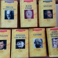 Libros antiguos: LOTE DE 7 LIBROS, GRANDES BIOGRAFIAS, PLANETA DE AGOSTINI, KENNEDY, MOZART, FREUD, NAPOLEON, J CESAR. Lote 77957045