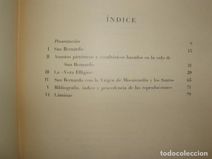 Libros antiguos: ICONOGRAFIA ESPAÑOLA DE SAN BERNARDO, RAFAEL M. DURÁN. 1953. 100 LAMINAS. - Foto 6 - 79054957