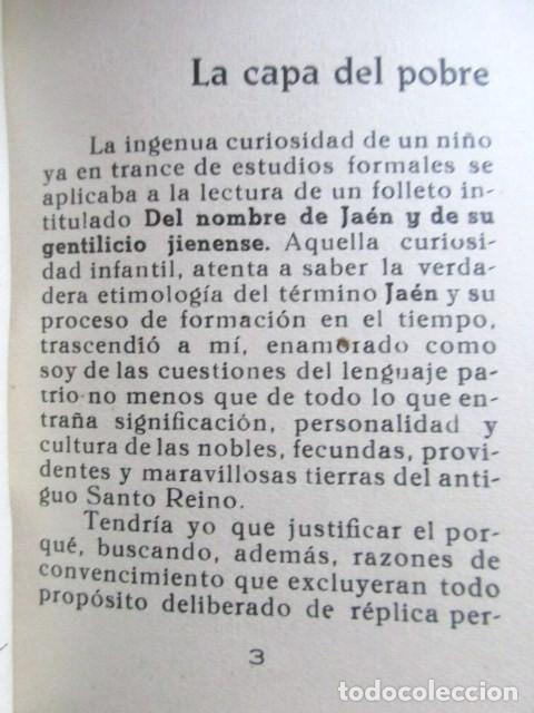 Libros antiguos: LOS DEBATES DEL LENGUAJE, LUIS GONZÁLEZ, CRONISTA DE JAEN, DEDICADO A NARCISO MESA, JÓDAR, AÑO 1958 - Foto 7 - 81564196