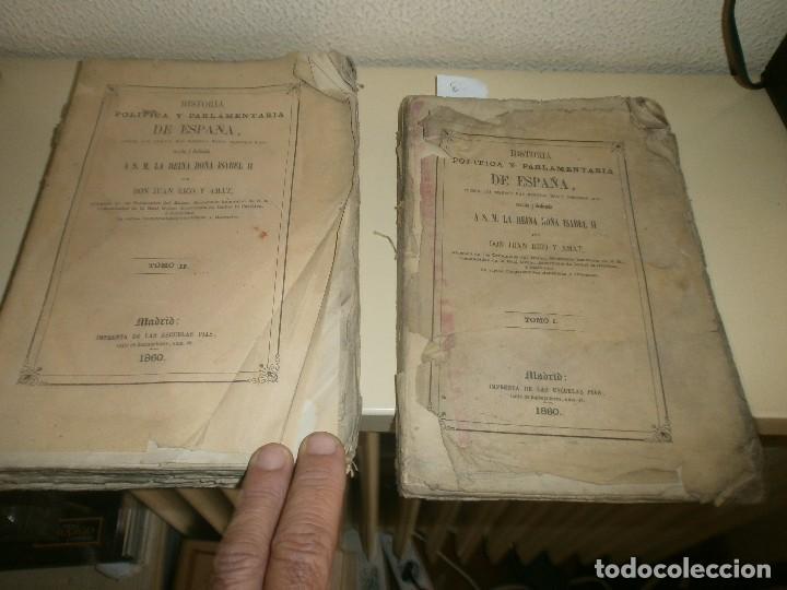 HISTORIA POLITICA Y PARLAMENTARIA DE ESPAÑA DESDE LOS TIEMPOS MÁS REMOTOS HASTA NUESTROS DÍAS 1860 (Libros antiguos (hasta 1936), raros y curiosos - Historia Moderna)