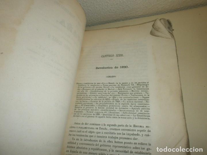 Libros antiguos: Historia Politica y parlamentaria de España desde los tiempos más remotos hasta nuestros días 1860 - Foto 5 - 85416952