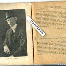 Libros antiguos: 1919 BERTRAND RUSSELL ALFONS MASERAS JOAN CREXELLS MATARO MANRESA BARBERA DEL VALLES . Lote 85483408