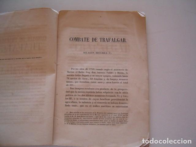 Libros antiguos: Combate Naval de Trafalgar. RM80911. - Foto 4 - 86822288