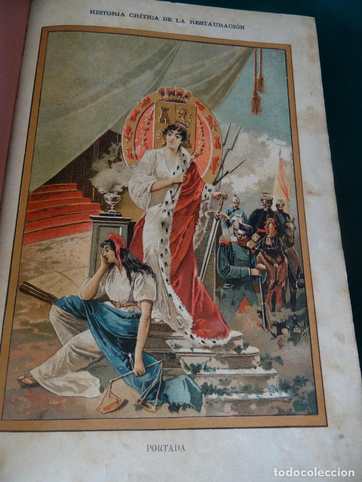 Libros antiguos: HISTORIA CRÍTICA DE LA RESTAURACIÓN BORBÓNICA EN ESPAÑA. NOGUES. 1895-1897. 3 TOMOS. COMPLETA - Foto 3 - 87010004