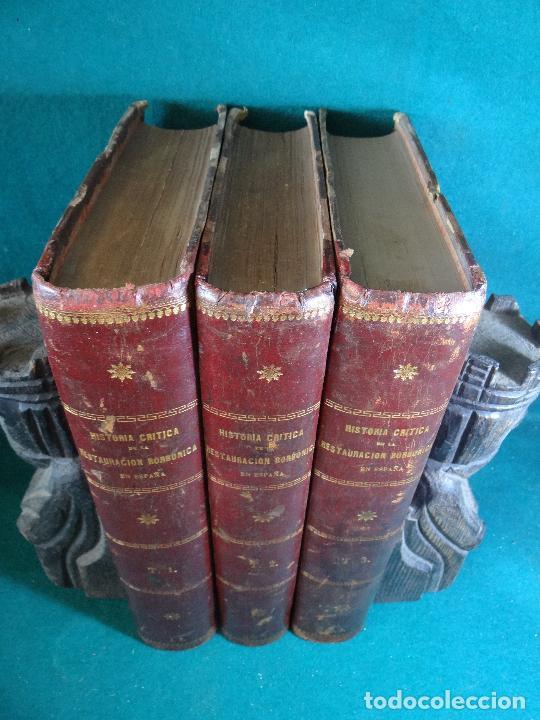 Libros antiguos: HISTORIA CRÍTICA DE LA RESTAURACIÓN BORBÓNICA EN ESPAÑA. NOGUES. 1895-1897. 3 TOMOS. COMPLETA - Foto 4 - 87010004