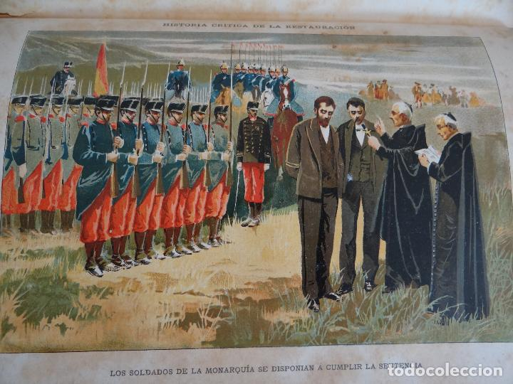 Libros antiguos: HISTORIA CRÍTICA DE LA RESTAURACIÓN BORBÓNICA EN ESPAÑA. NOGUES. 1895-1897. 3 TOMOS. COMPLETA - Foto 13 - 87090452