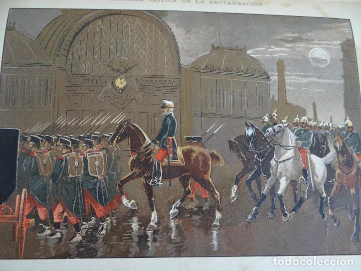Libros antiguos: HISTORIA CRÍTICA DE LA RESTAURACIÓN BORBÓNICA EN ESPAÑA. NOGUES. 1895-1897. 3 TOMOS. COMPLETA - Foto 16 - 87090452