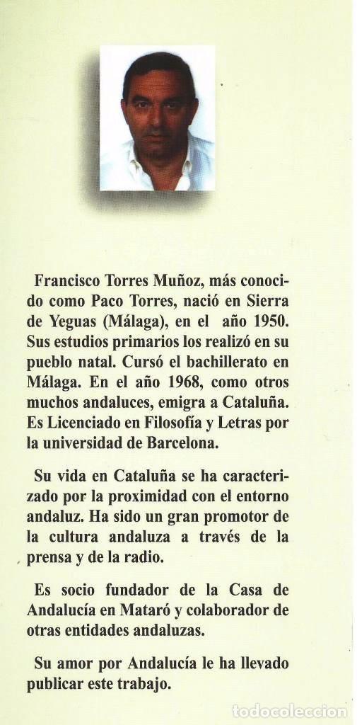 Libros antiguos: LIBRO UNA ANDALUCÍA LEJANA HOMENAJE A LA MUJER ANDALUZA POR FRANCISCO TORRES MUÑOZ. SIERRA DE YEGUAS - Foto 3 - 87422372