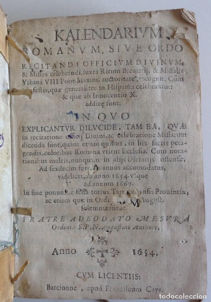 Barcelona 1654 Calendario Romano Para Los Pro Vendido En Subasta