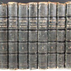 Libros antiguos: HISTOIRE DE PARÍS. 7 TOMOS. J. A. DULAURE. LIBRAIRES FURNE ET CIE. 1837/1838.. Lote 89916156