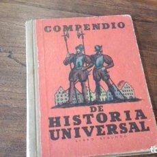Libros antiguos: COMPENDIO DE HISTORIA UNIVERSAL. Lote 90453919