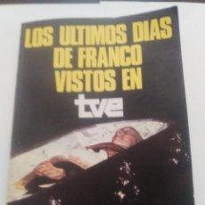 Alte Bücher - Los ultimos dias de Franco vistos en TVE - 94405038