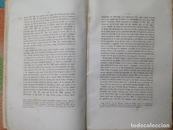 Libros antiguos: cartas y relaciones de hernan cortes a carlos V Imprenta General de los Ferro-Carriles, Paris 1866 - Foto 5 - 94938959