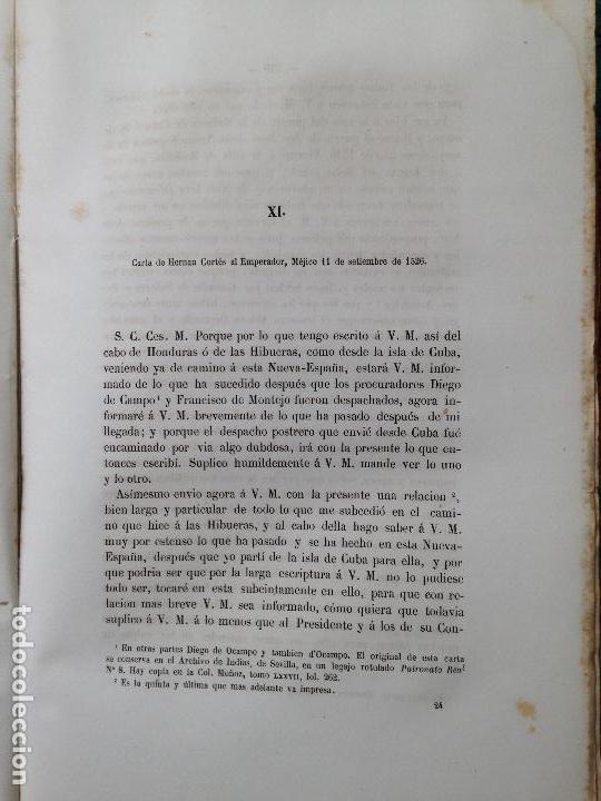 Libros antiguos: cartas y relaciones de hernan cortes a carlos V Imprenta General de los Ferro-Carriles, Paris 1866 - Foto 6 - 94938959