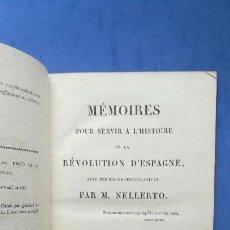 Libros antiguos: ENVÍO GRATIS. MÉMOIRES POUR SERVIR A L'HISTORIE DE LA RÉVOLUTION D'ESPAGNE. GUERRA INDEPENDENCIA.. Lote 95200319
