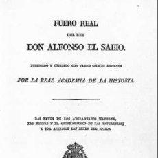 Alte Bücher - FUERO REAL DEL REY DON ALONSO EL SABIO 1836 - 95440683