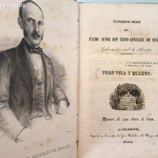 Libros antiguos: ULTIMOS DÍAS DEL EXMO. SEÑOR DON TRINO GONZÁLEZ QUIJANO - JUAN VILA - 1854. Lote 97716059