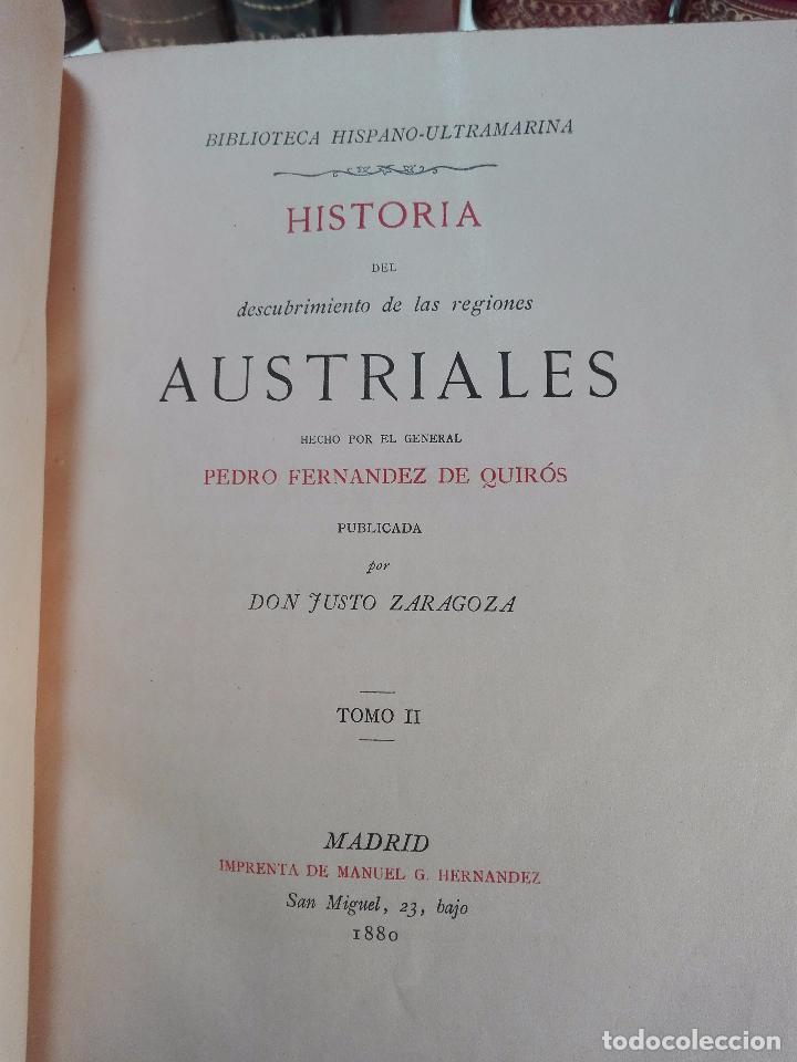 Libros antiguos: HISTORIA DEL DESCUBRIMIENTO DE LAS REGIONES AUSTRIALES - PEDRO FERNANDEZ DE QUIRÓS - 2 TOMOS - 1876 - Foto 7 - 100473423