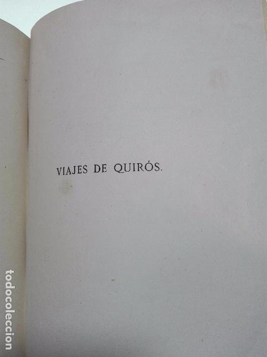 Libros antiguos: HISTORIA DEL DESCUBRIMIENTO DE LAS REGIONES AUSTRIALES - PEDRO FERNANDEZ DE QUIRÓS - 2 TOMOS - 1876 - Foto 9 - 100473423